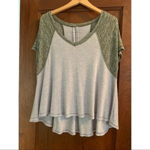 Purple and green Free People t shirt